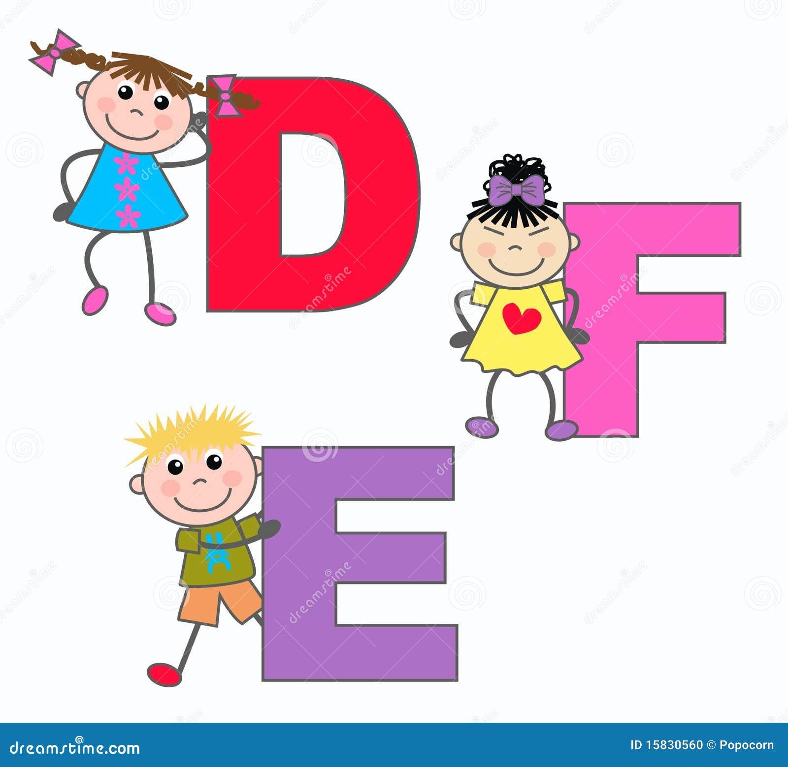 Alphabet Letters D E F Stock Photo - Image: 15830560