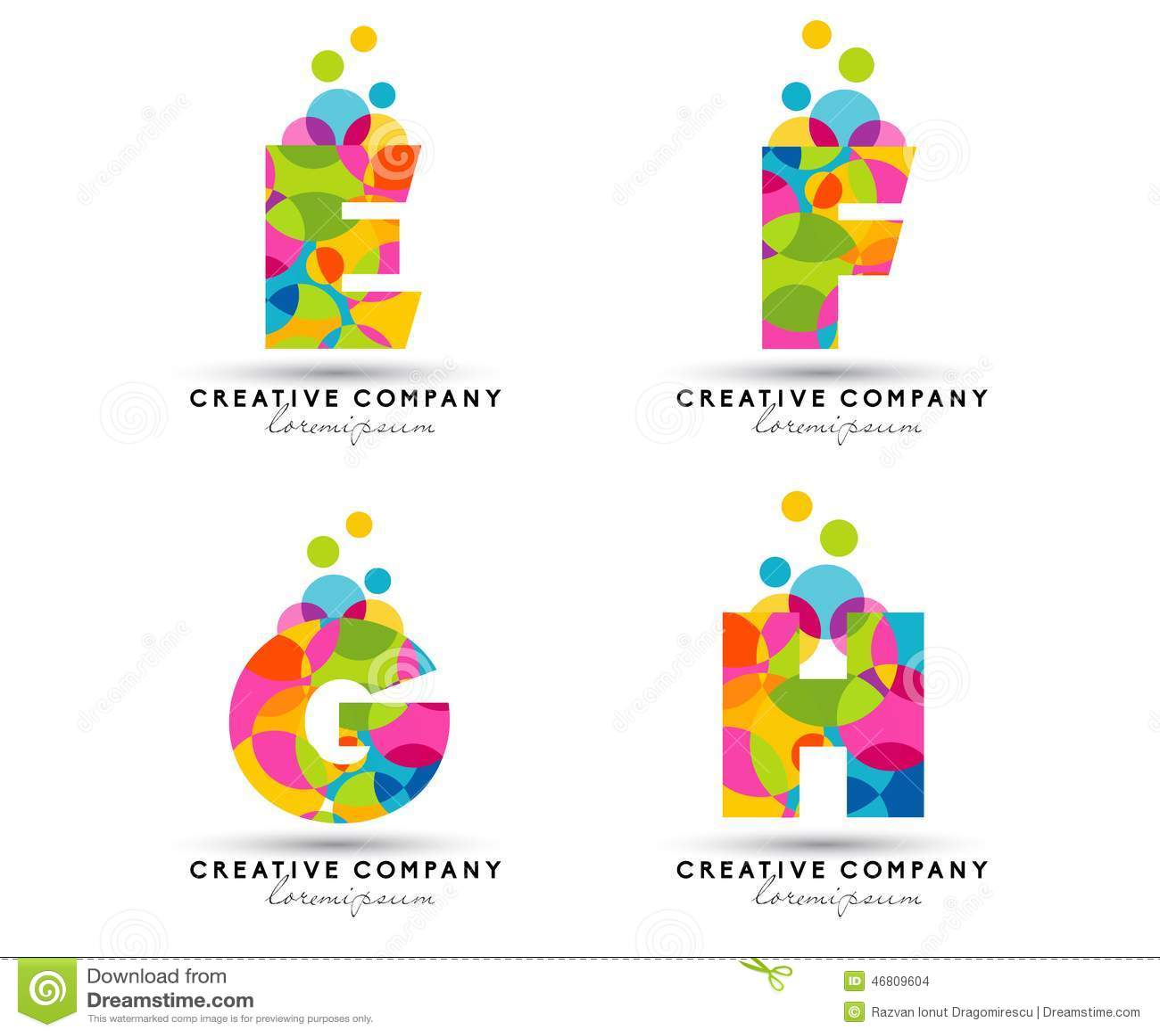 Alphabet Letters Logo Stock Vector Illustration Of Designs 46809604