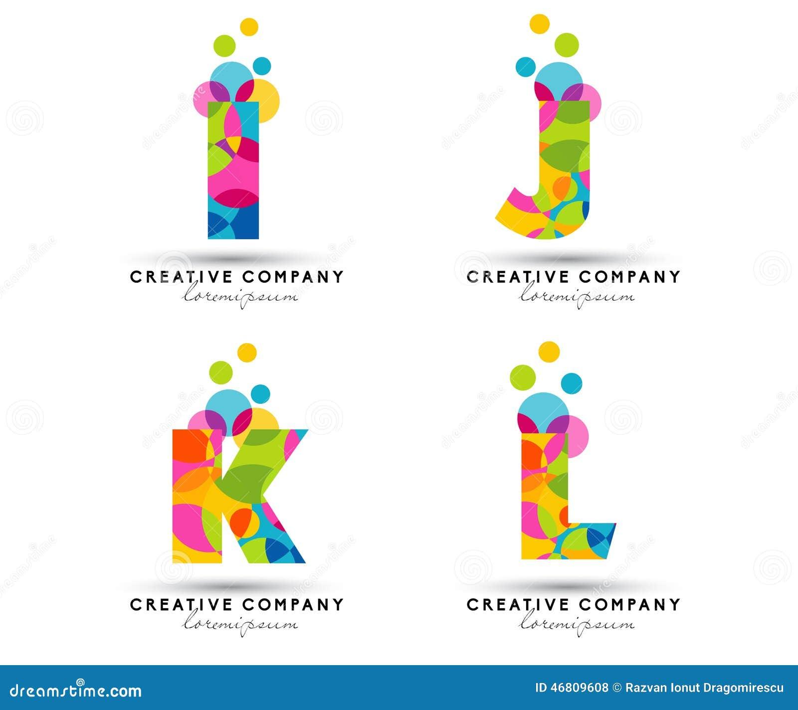 Colorful Letter V Logo: Alphabet Letters Logo Stock Vector. Image Of Letters