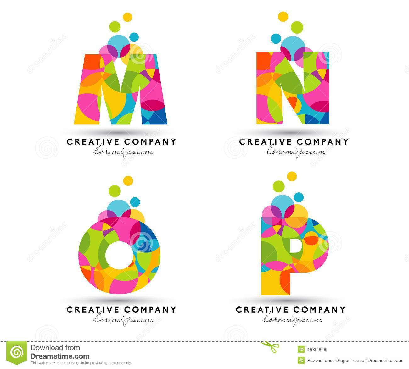 Alphabet Letters Logo Stock Vector Illustration Of Colorful