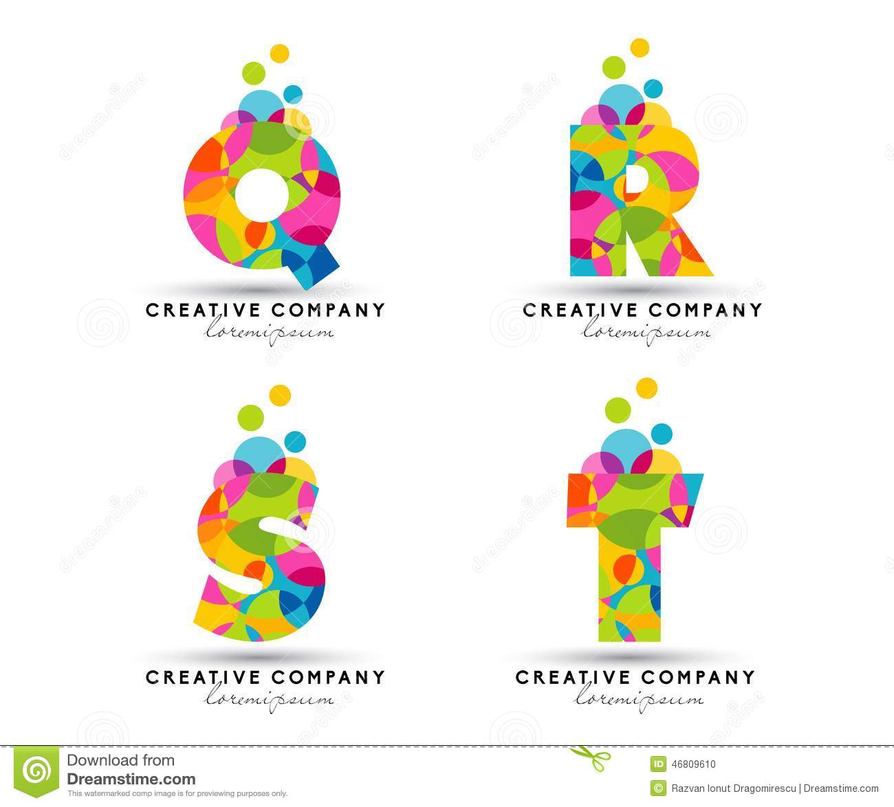 Alphabet Letters Logo Stock Vector Illustration Of Letters