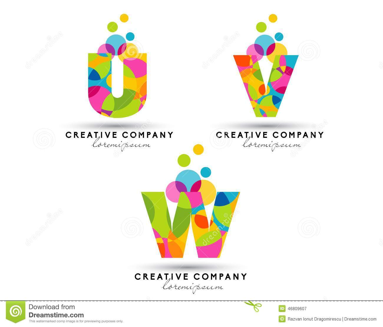 Alphabet Letters Logo Stock Vector Illustration Of Creative
