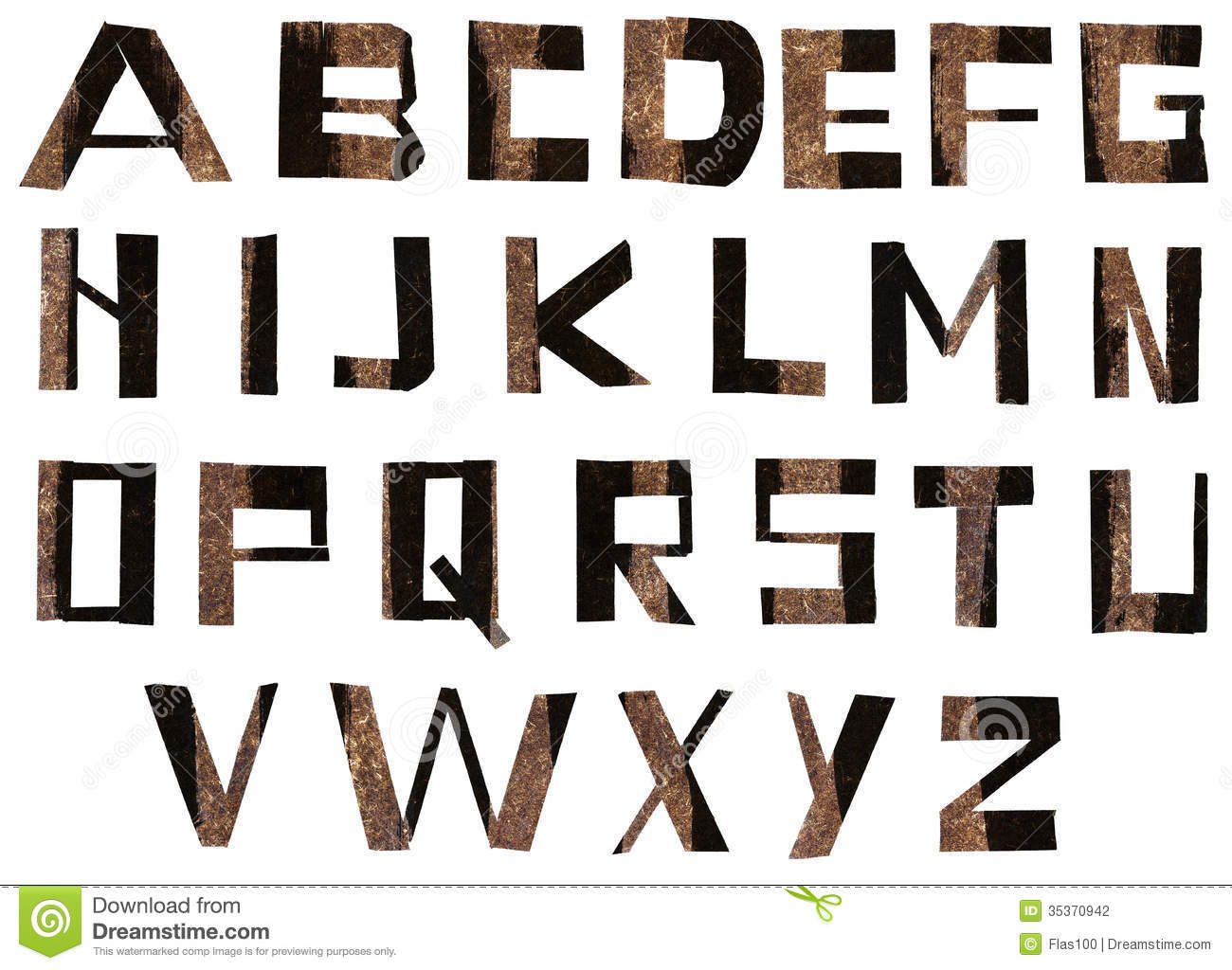 Alphabet letters made from paper stock photography image for Alphabet letters cardboard