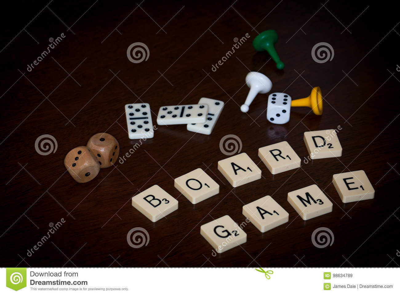 Alphabet letters spell out `BOARD GAME`
