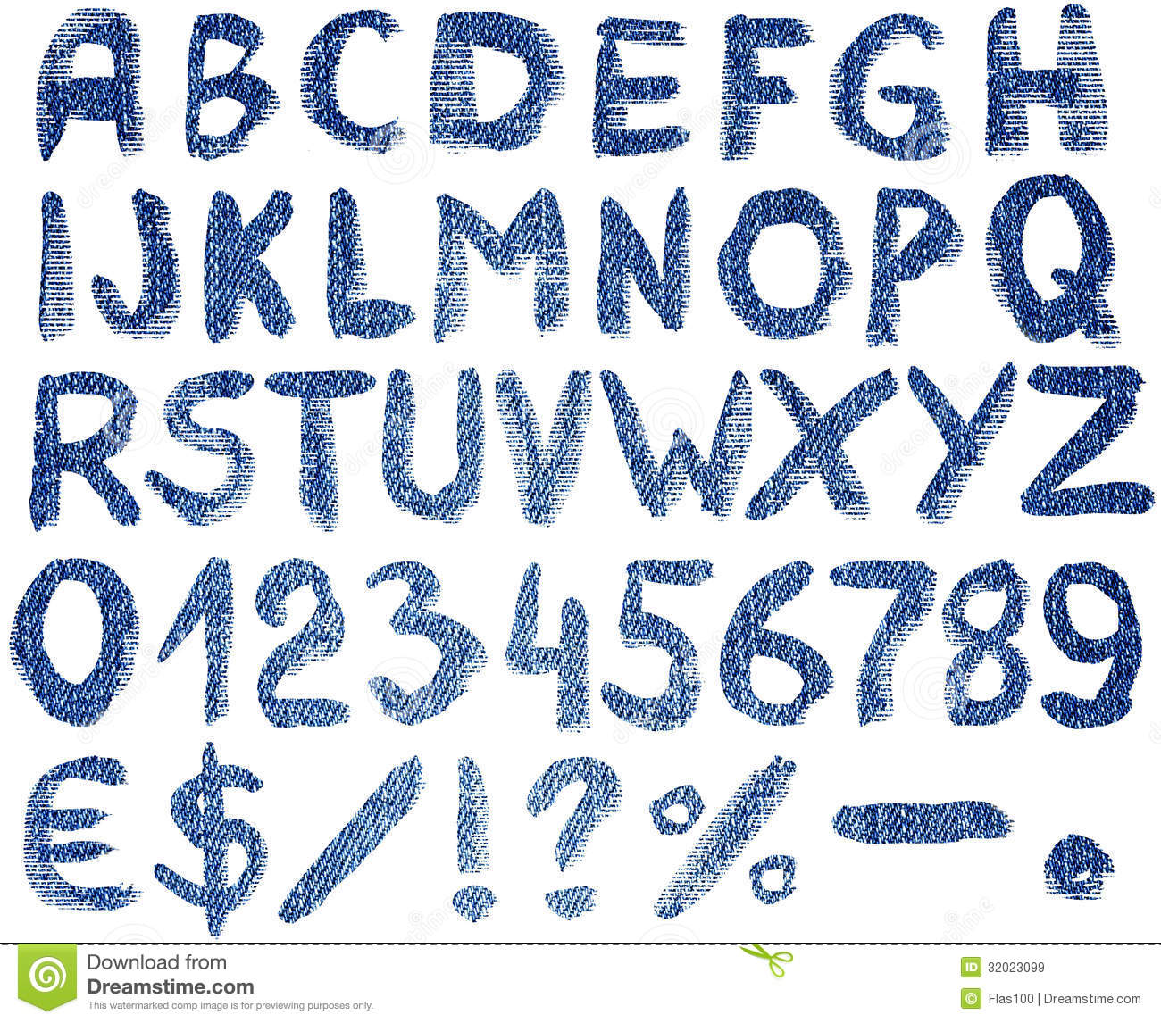 Alphabet Letters With Symbols And Numbers Stock Image Image Of