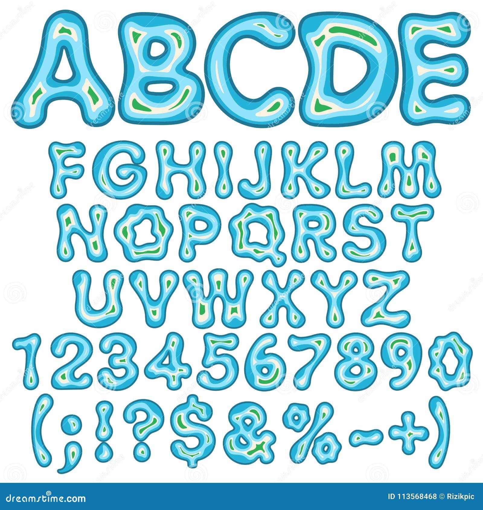 Alphabet Lettres Nombres Et Signes Sous Forme D Ile En Mer Objets
