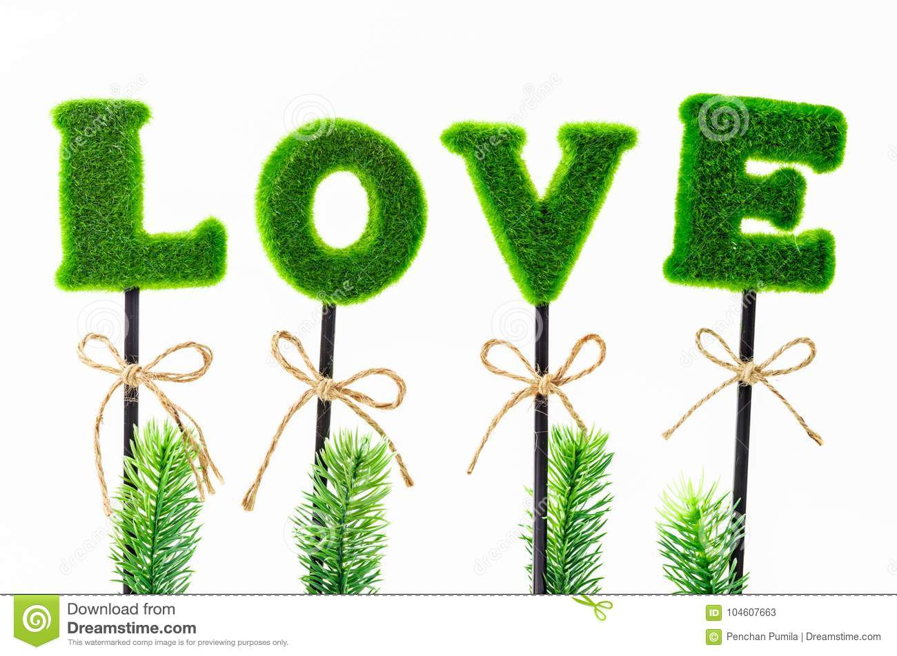 Alphabet Of Love In Artificial Tree Stock Image Image Of