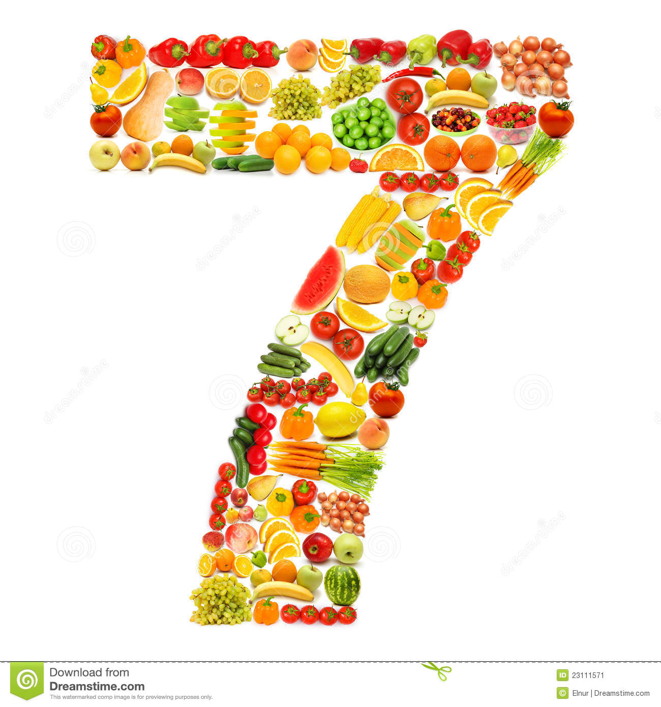 Alphabet Made Of Fruits And Vegetables Stock Image - Image ...