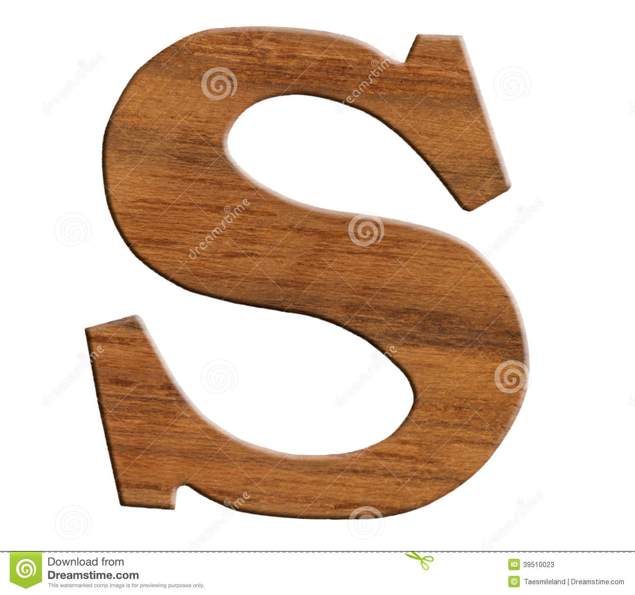 Alphabet made from wood,