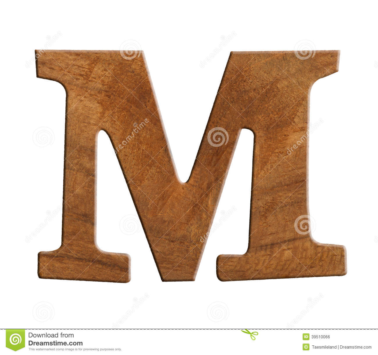 Alphabet made from wood