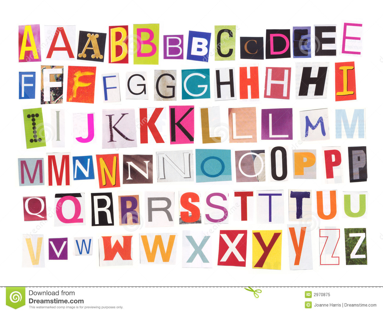 Alphabet - Magazine Cutouts Royalty Free Stock Photo - Image: 2970875