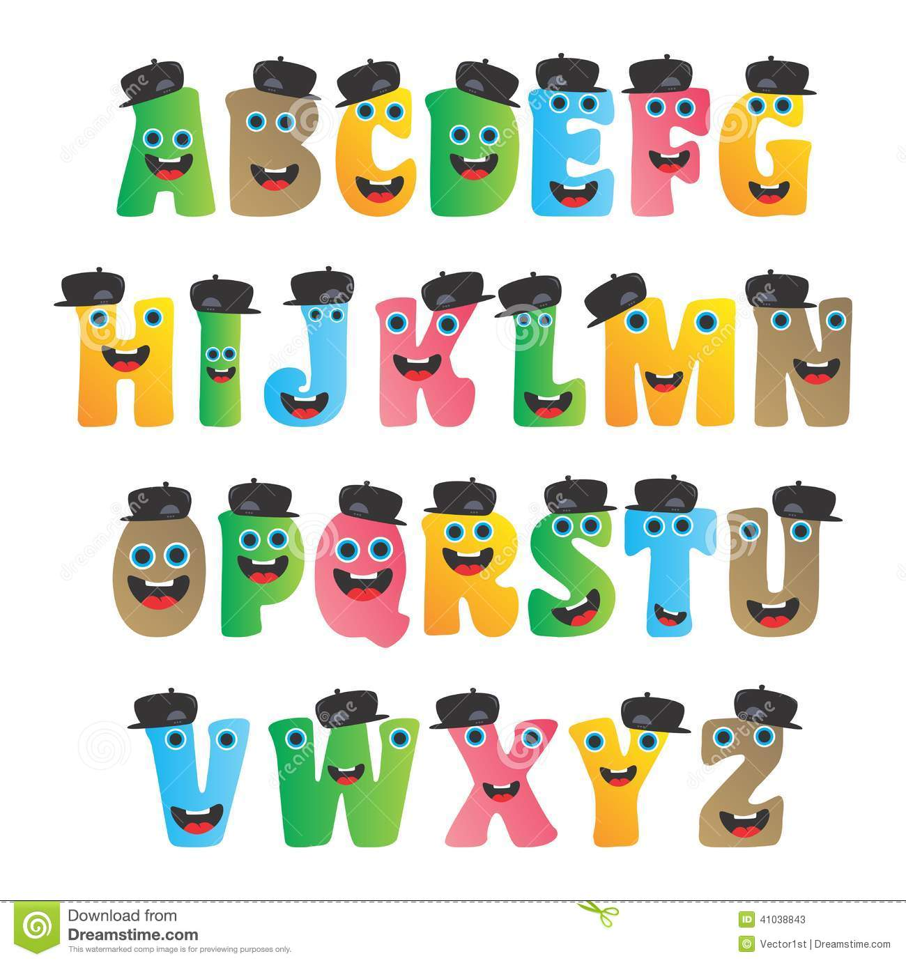 Alphabet Monster Character Stock Vector - Image: 41038843
