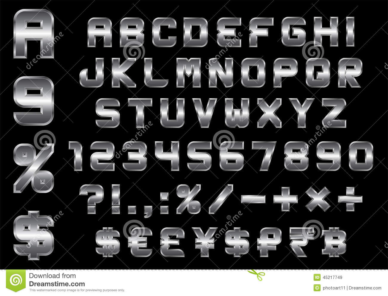 Alphabet numbers currency and symbols pack rectangular beveled alphabet numbers currency and symbols pack rectangular beveled metal font buycottarizona