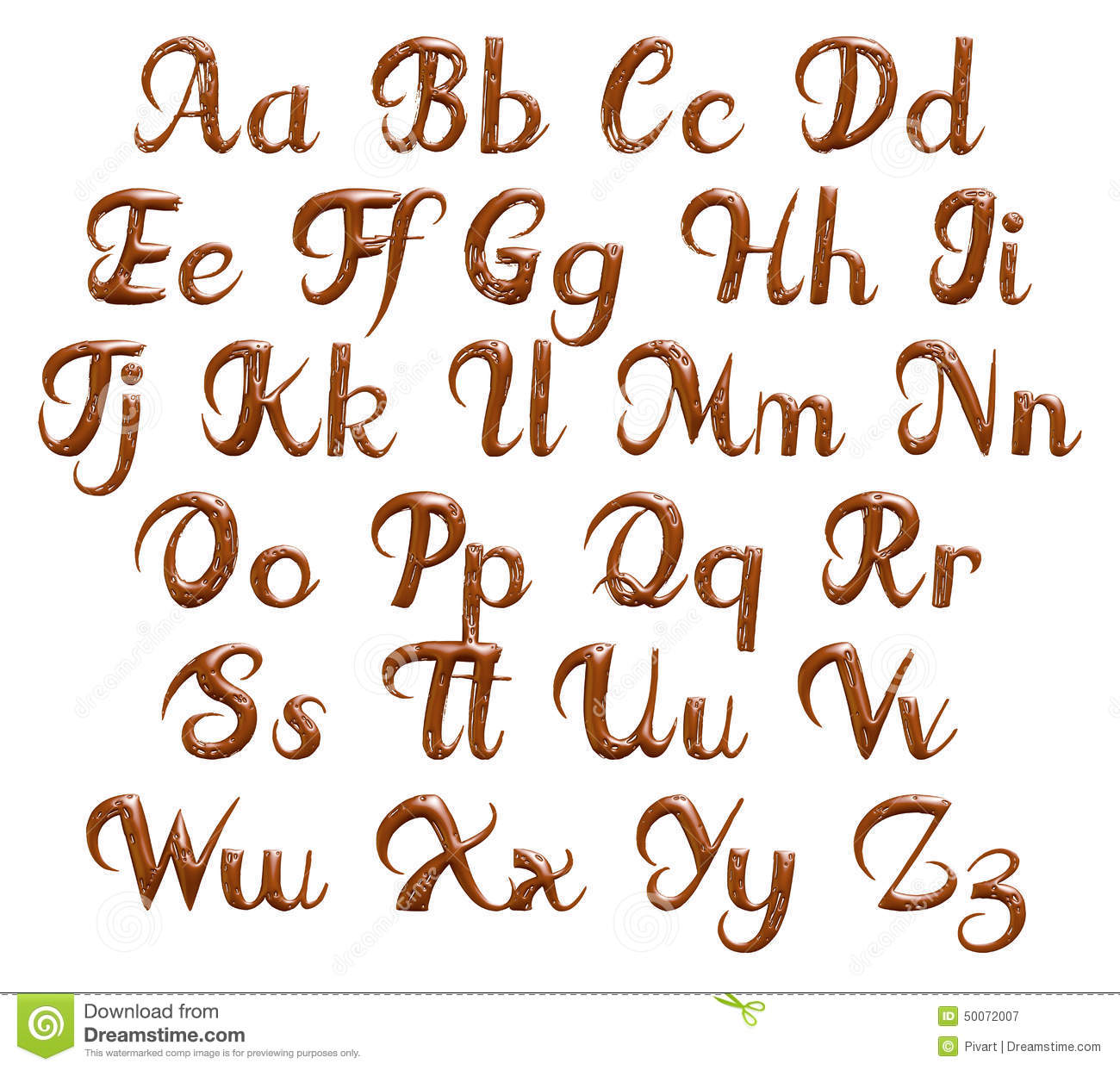 Alphabet Numbers And Symbols Made Of Chocolate Syrup Drip Letter