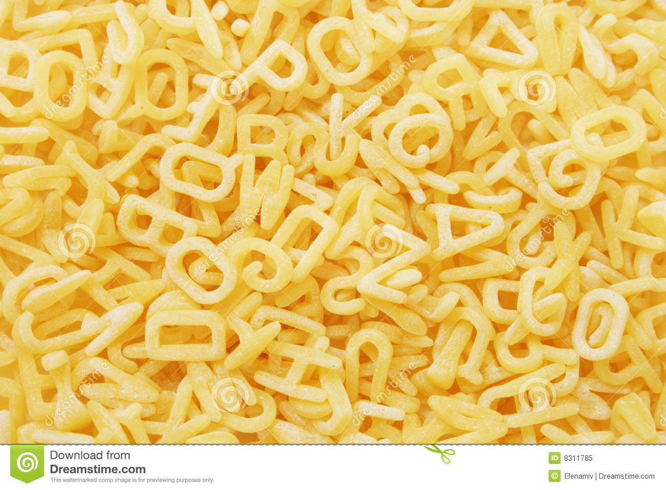 Alphabet Pasta Stock Image Image Of Details Food