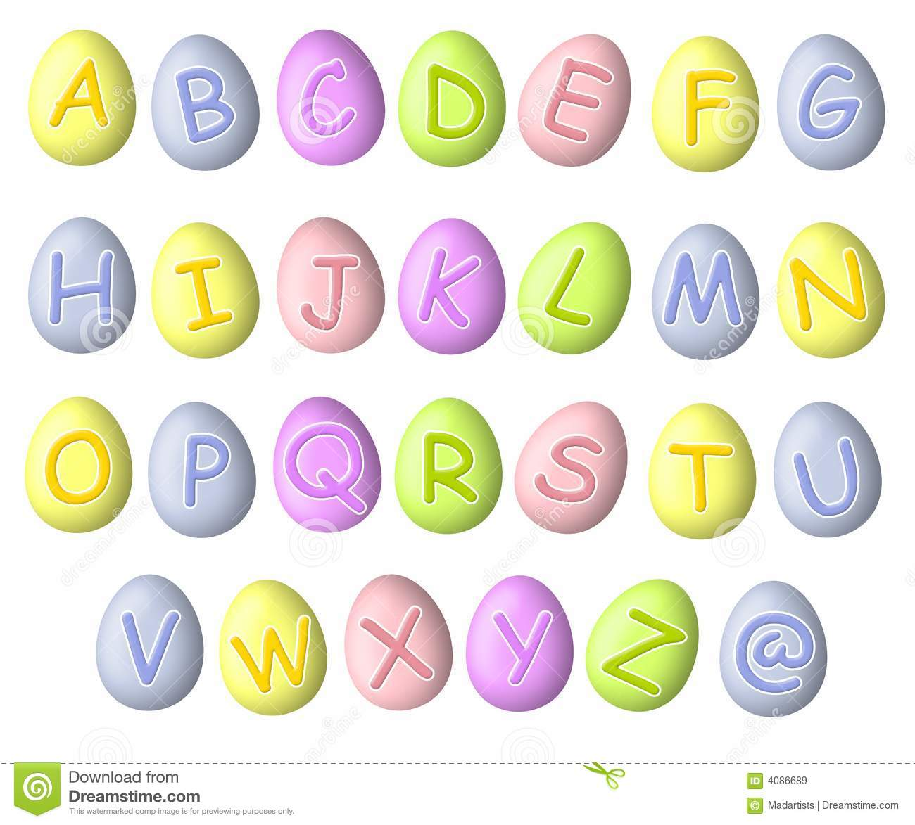 Pastel Colored Letter S