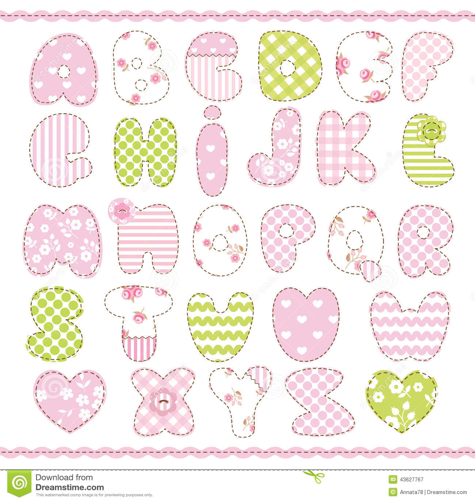Baby alphabet stock photos