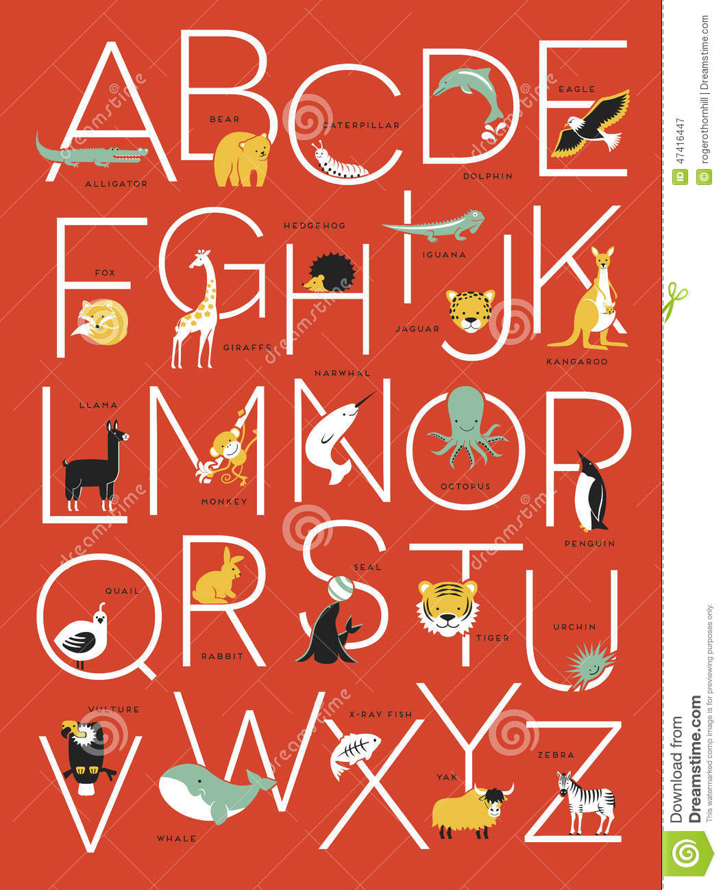 Poster design download - Alphabet Animal Animals Design Graphic Illustrations Poster