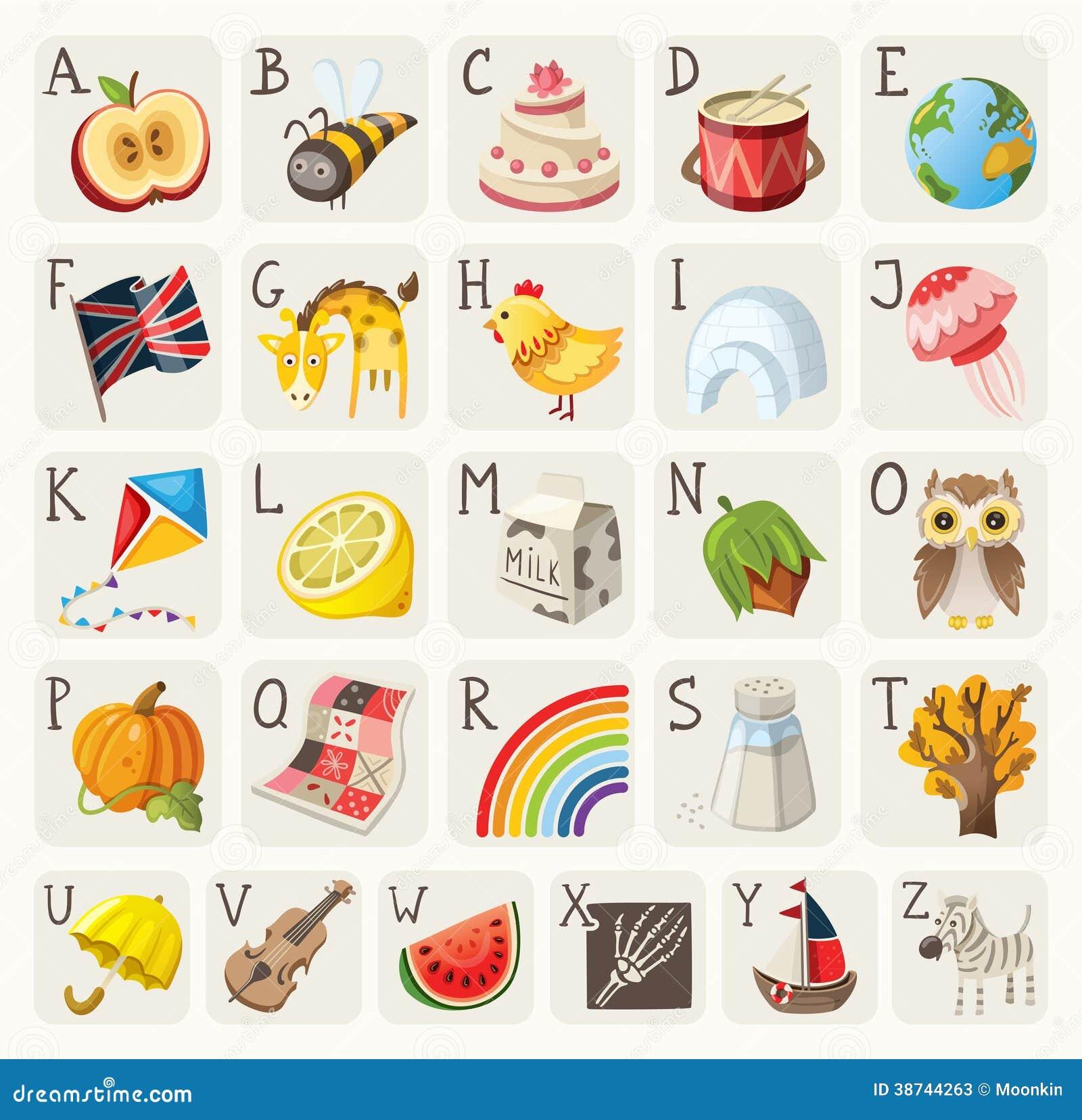 alphabet pour des enfants illustration de vecteur. Black Bedroom Furniture Sets. Home Design Ideas