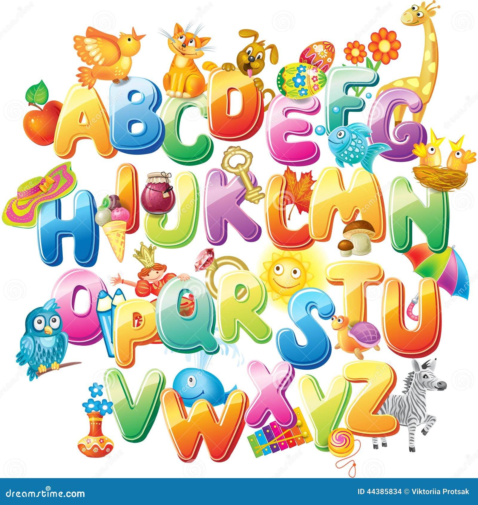 alphabet pour des enfants avec des photos illustration de. Black Bedroom Furniture Sets. Home Design Ideas