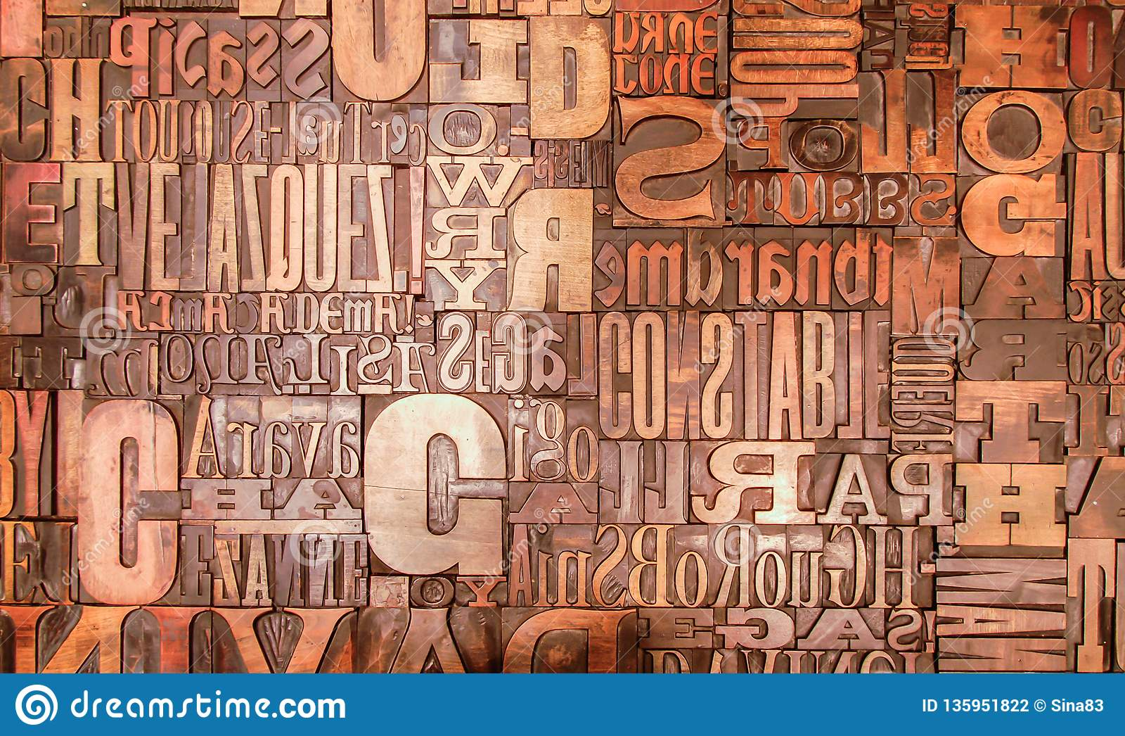 Alphabet print letters character