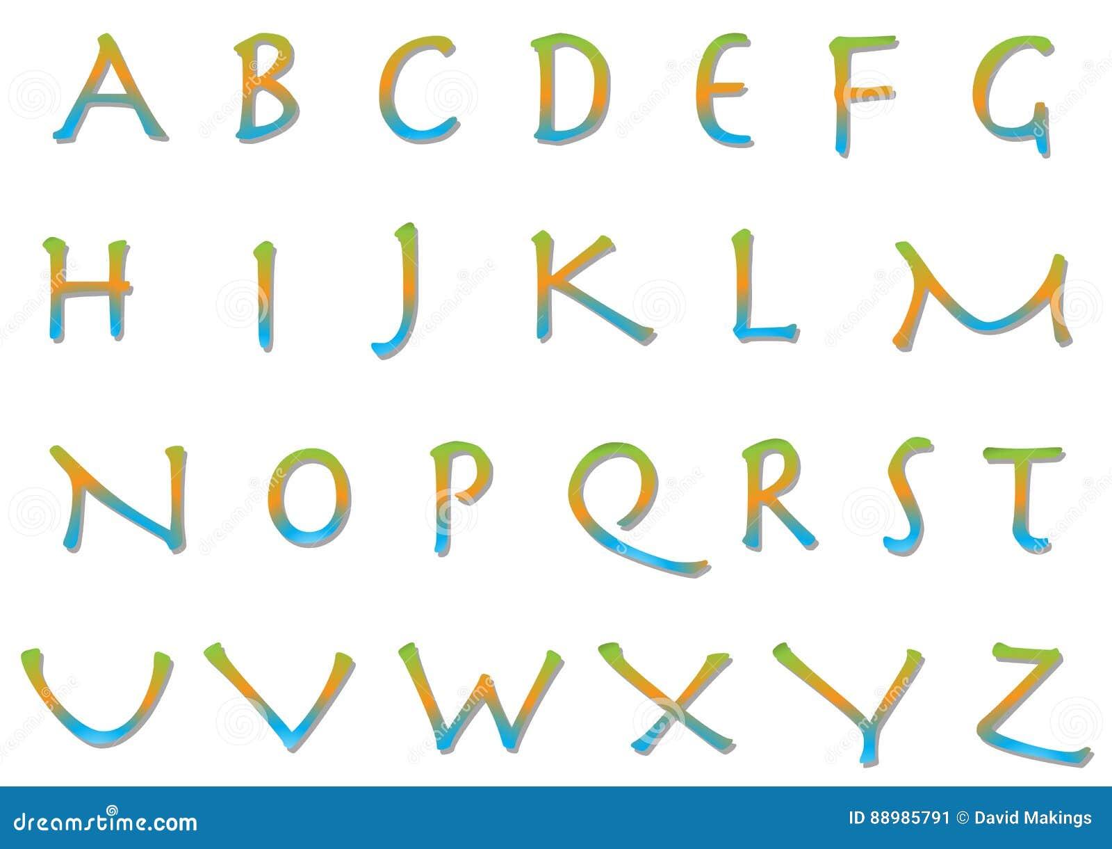 Alphabet Psychédélique alphabet psychédélique illustration stock. illustration du