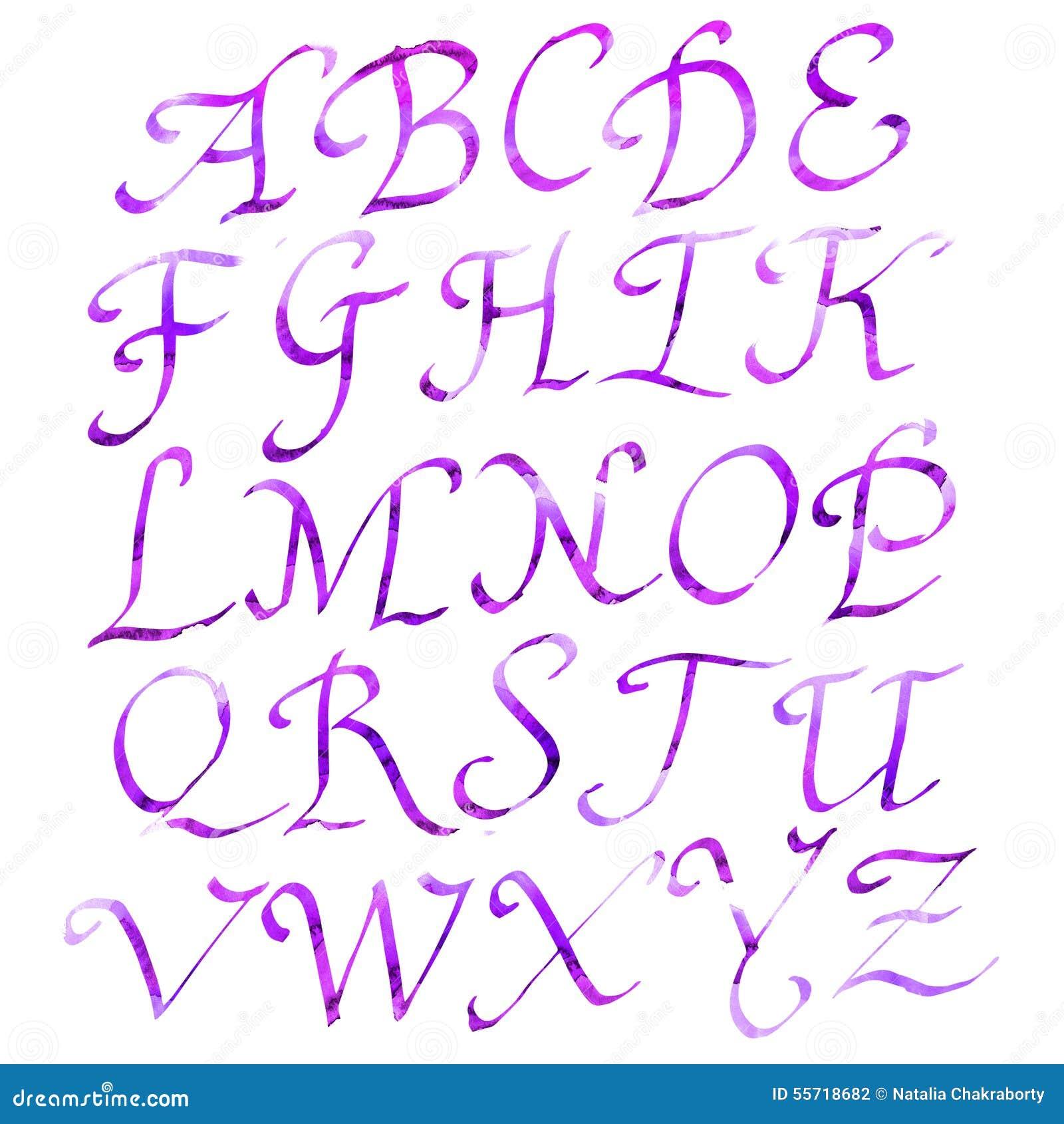 alphabet romain fait main illustration stock image du retrait 55718682. Black Bedroom Furniture Sets. Home Design Ideas