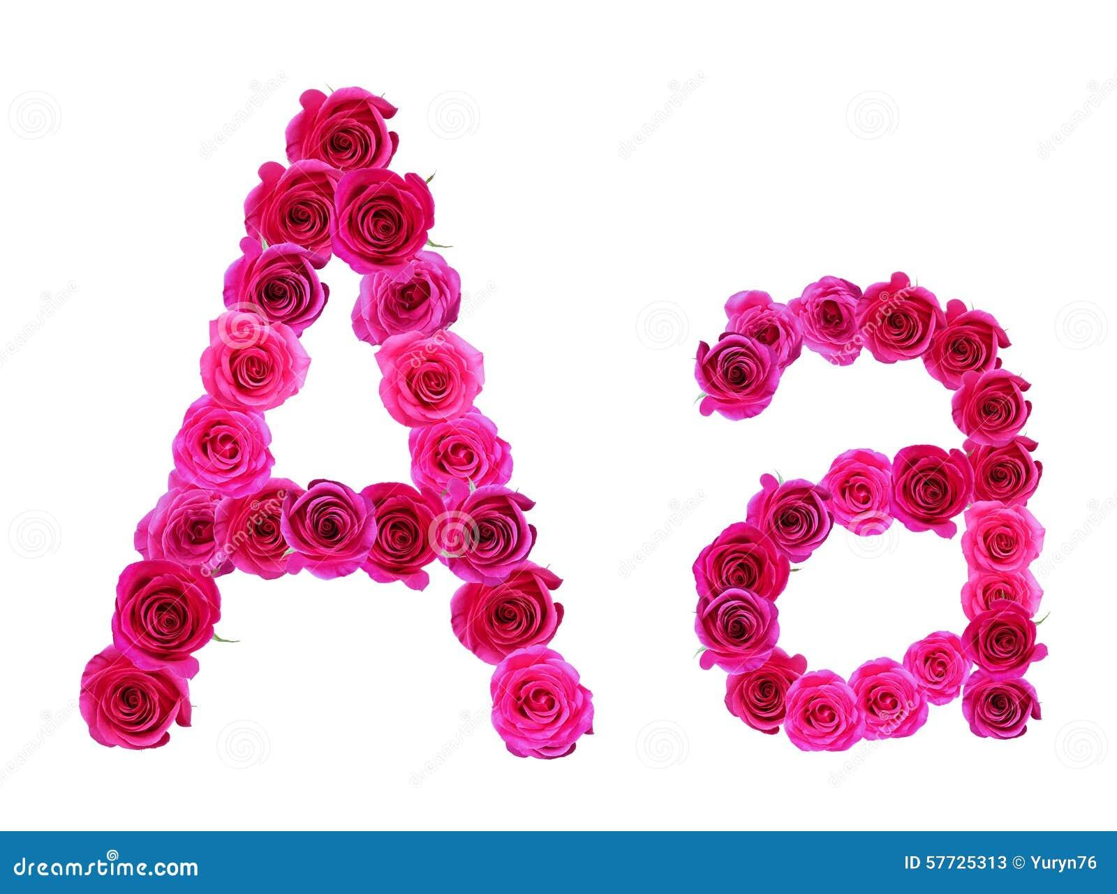 Alphabet Of Roses Stock Photo - Image: 57725313