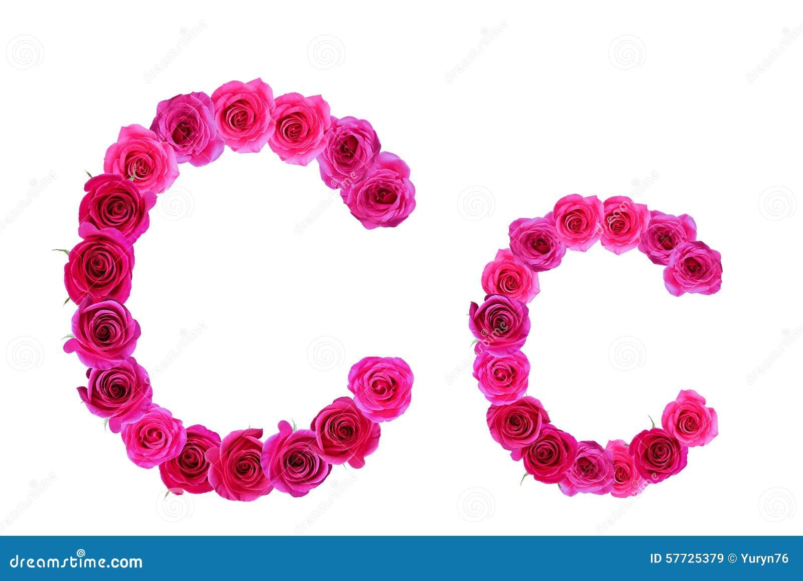 Alphabet Of Roses Stock Photo - Image: 57725379