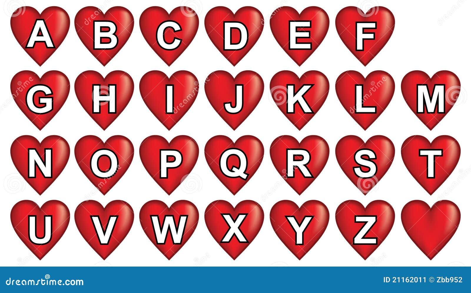 Alphabet Rouge De Coeur Image stock - Image: 21162011