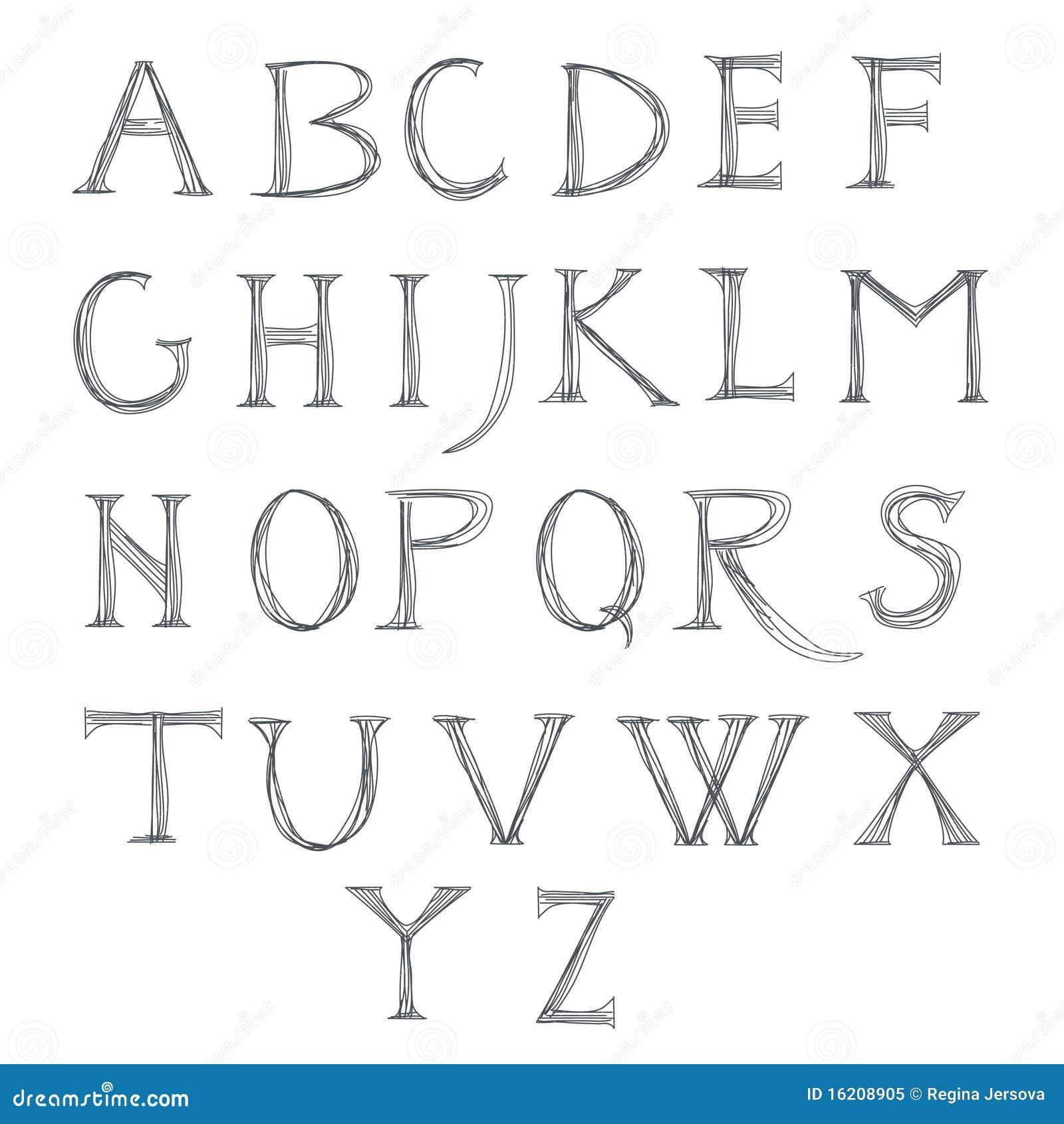 Alphabet Sketch Royalty Free Stock Photo Image 16208905