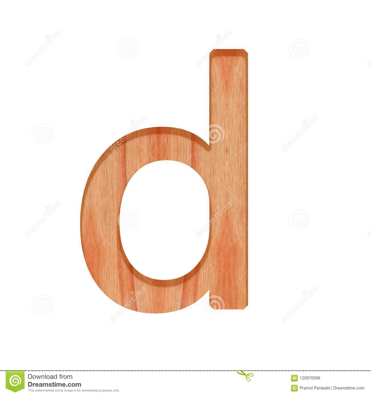 Alphabet Small Wooden Vintage Lowercase Letter Beautiful 3d
