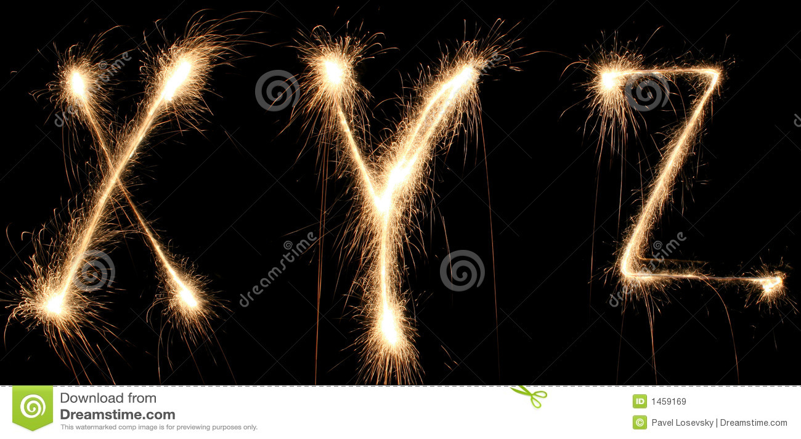 Alphabet Sparkler Royalty Free Stock Images