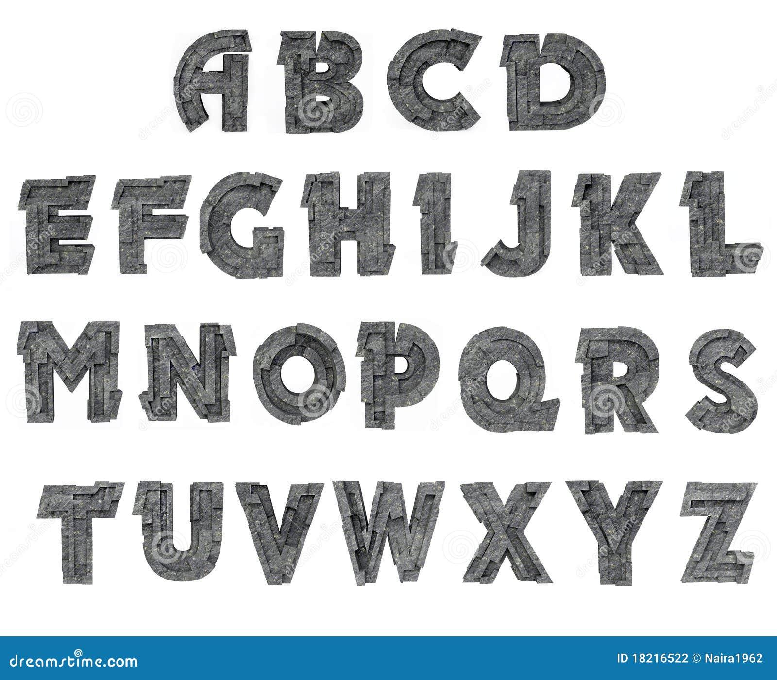 3d Block Letter Alphabet