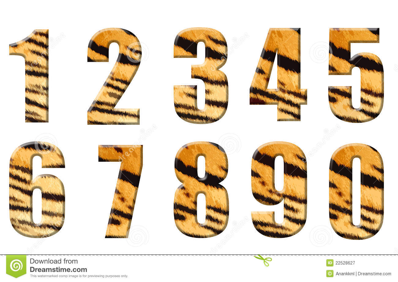Alphabet In Style Of A Tiger Royalty Free Stock