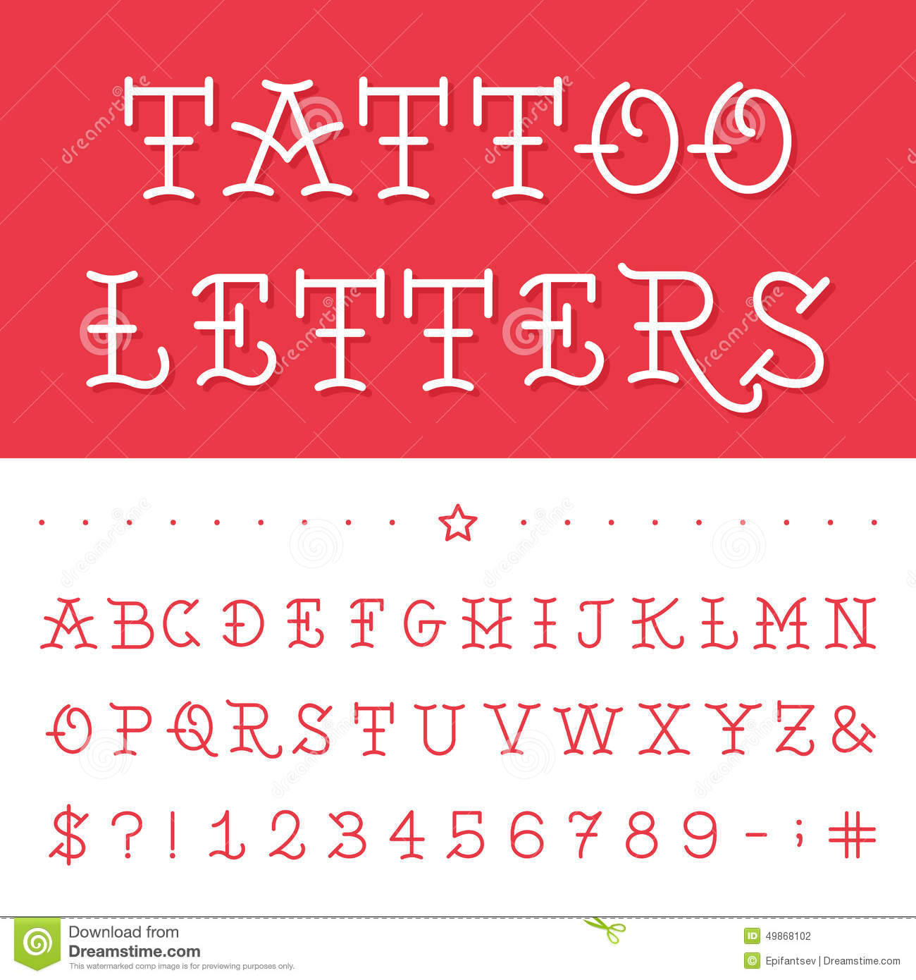 Tattoo Alphabet alphabet style tattoo stock photos, images, & pictures ...