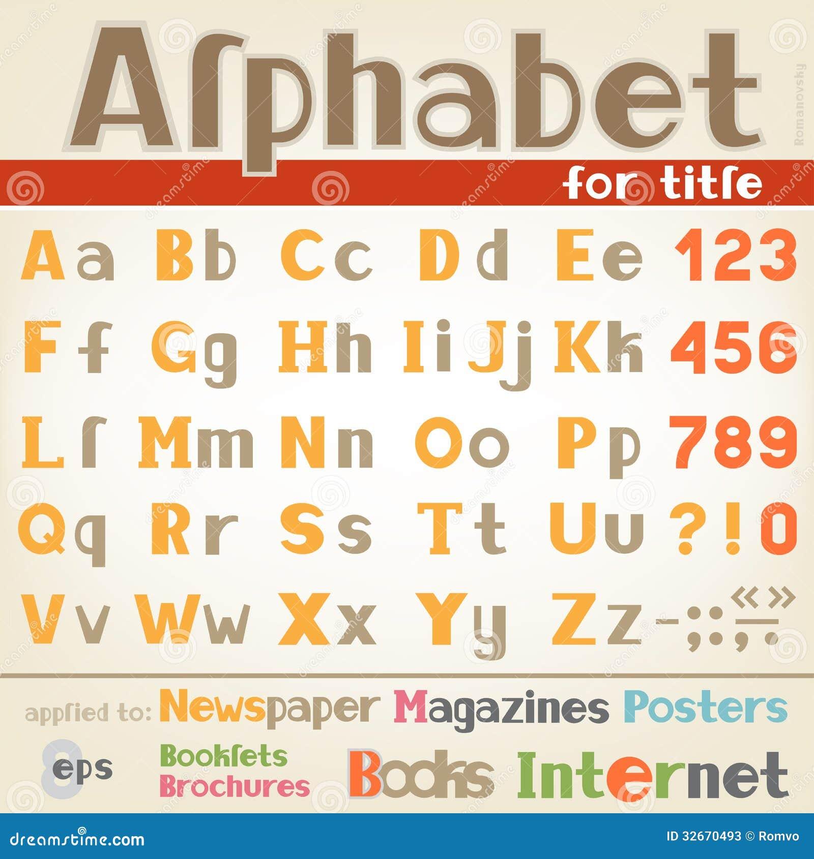 alphabet for title stock photos image 32670493