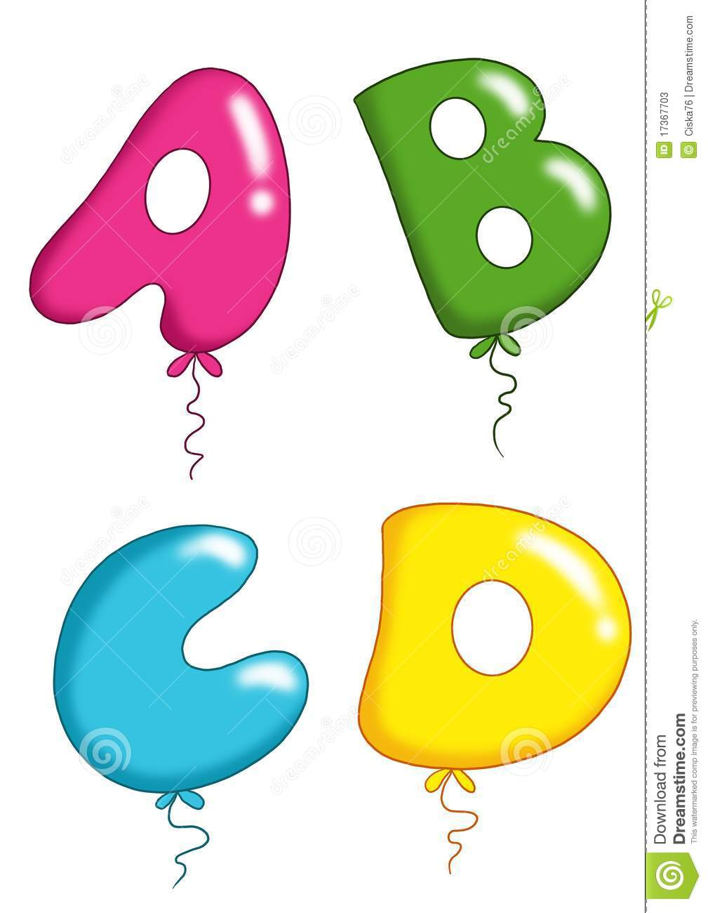 Balloon Letters Free Download