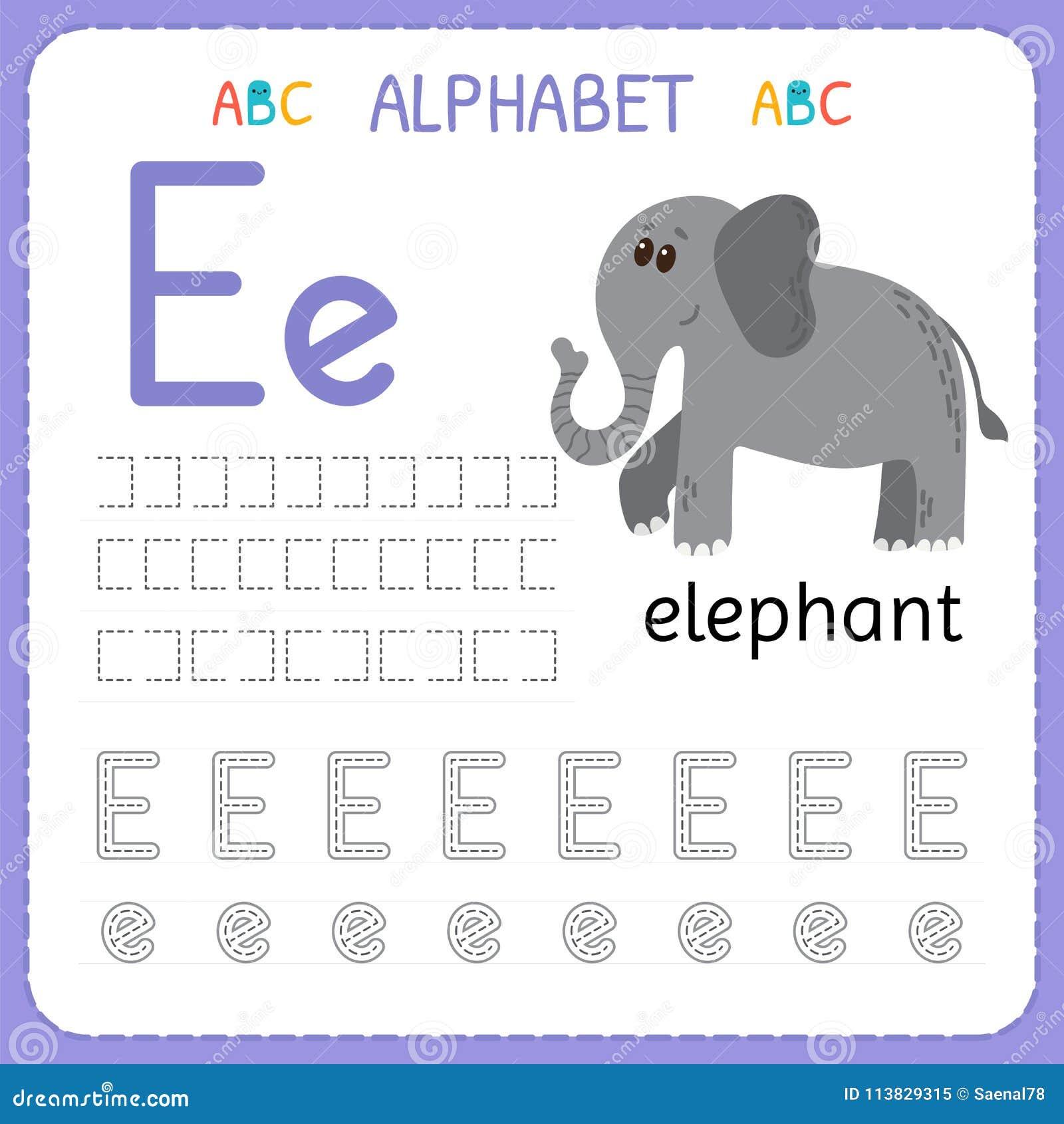download alphabet tracing worksheet for preschool and kindergarten writing practice letter e exercises for