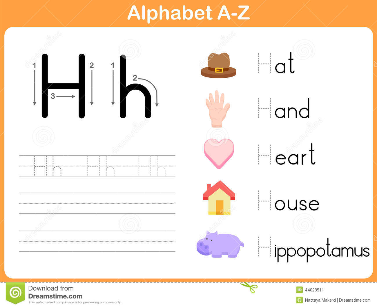 Alphabet Tracing Worksheet Vector Image 44028511 – Alphabet Tracing Worksheet