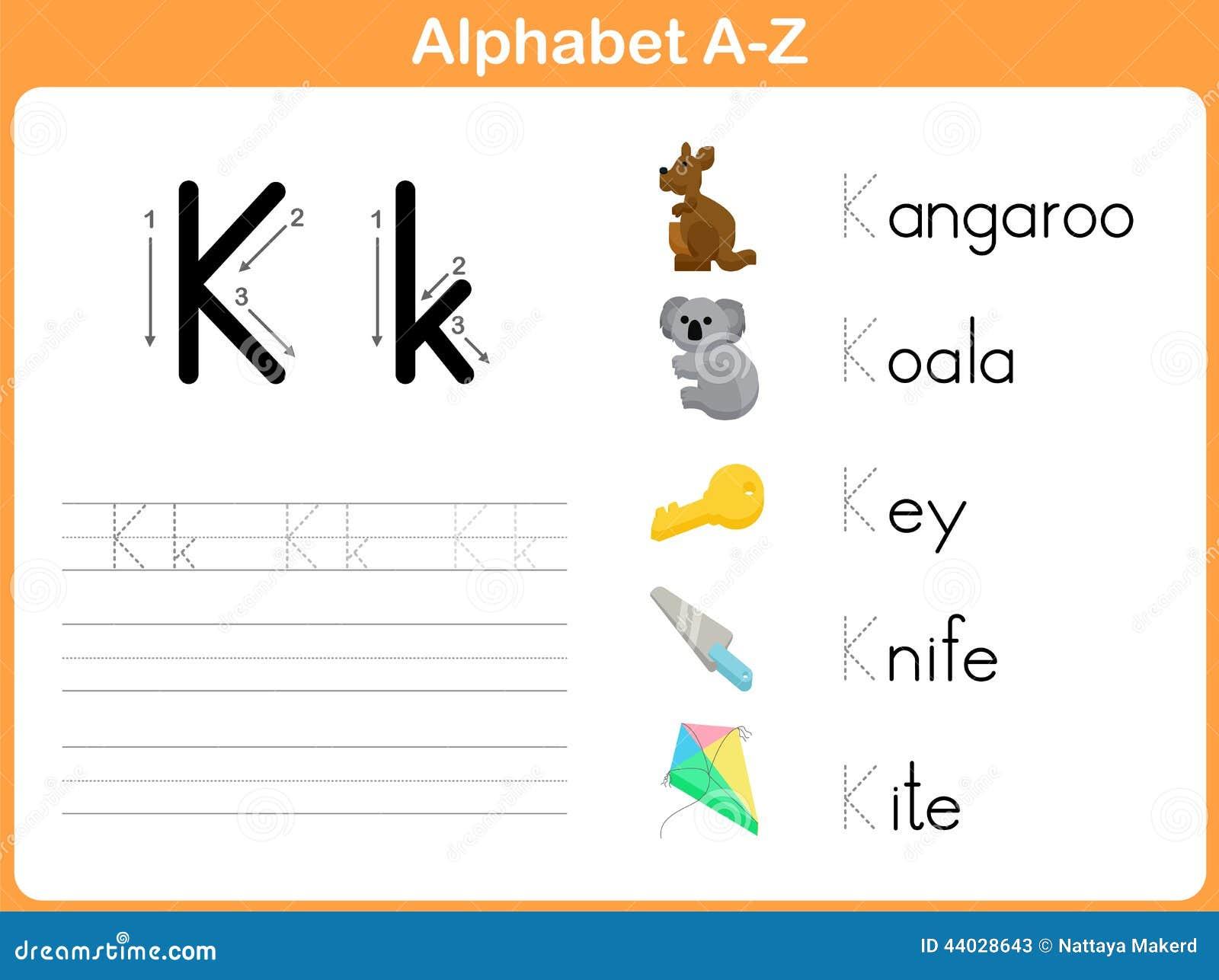 Alphabet Tracing Worksheet Stock Vector Image Of Spelling
