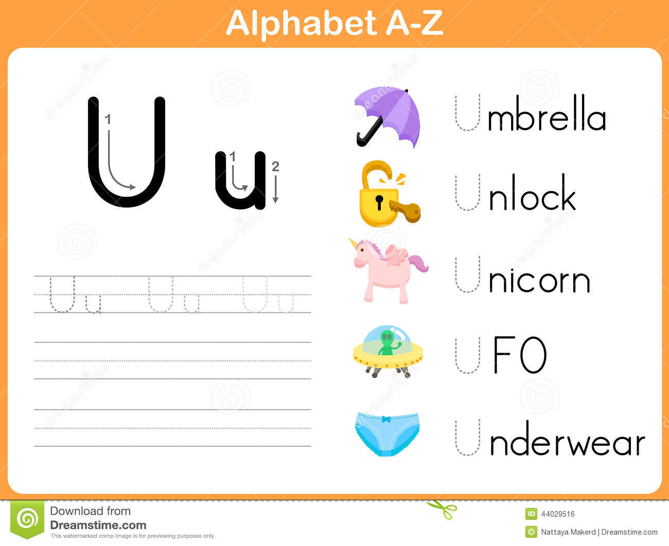 Alphabet Tracing Worksheet: Writing A-Z.