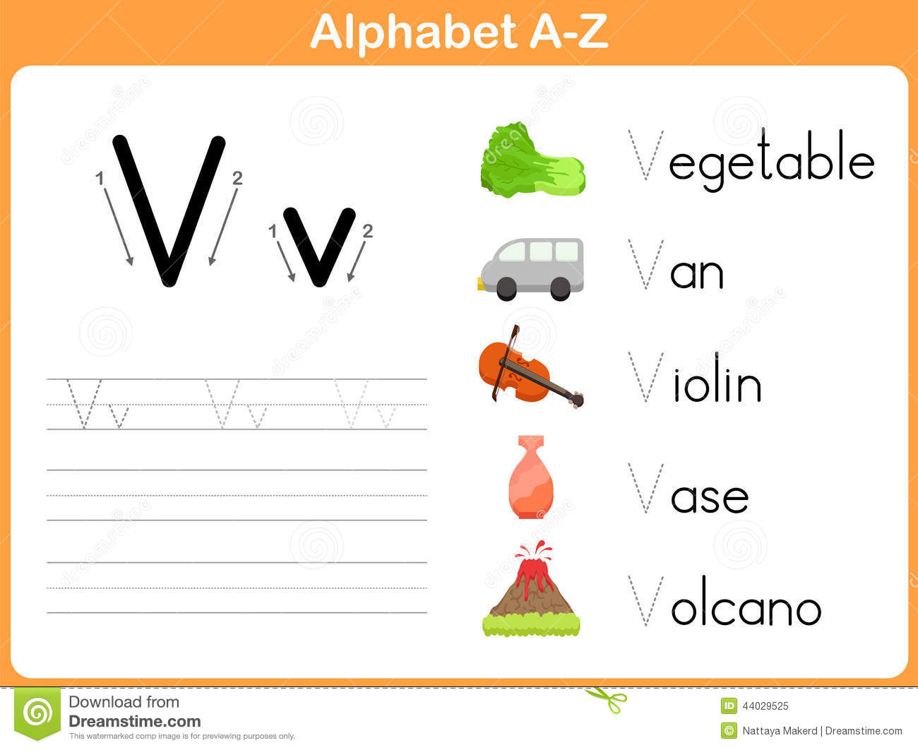Alphabet Tracing Worksheet Stock Vector - Image: 44029525