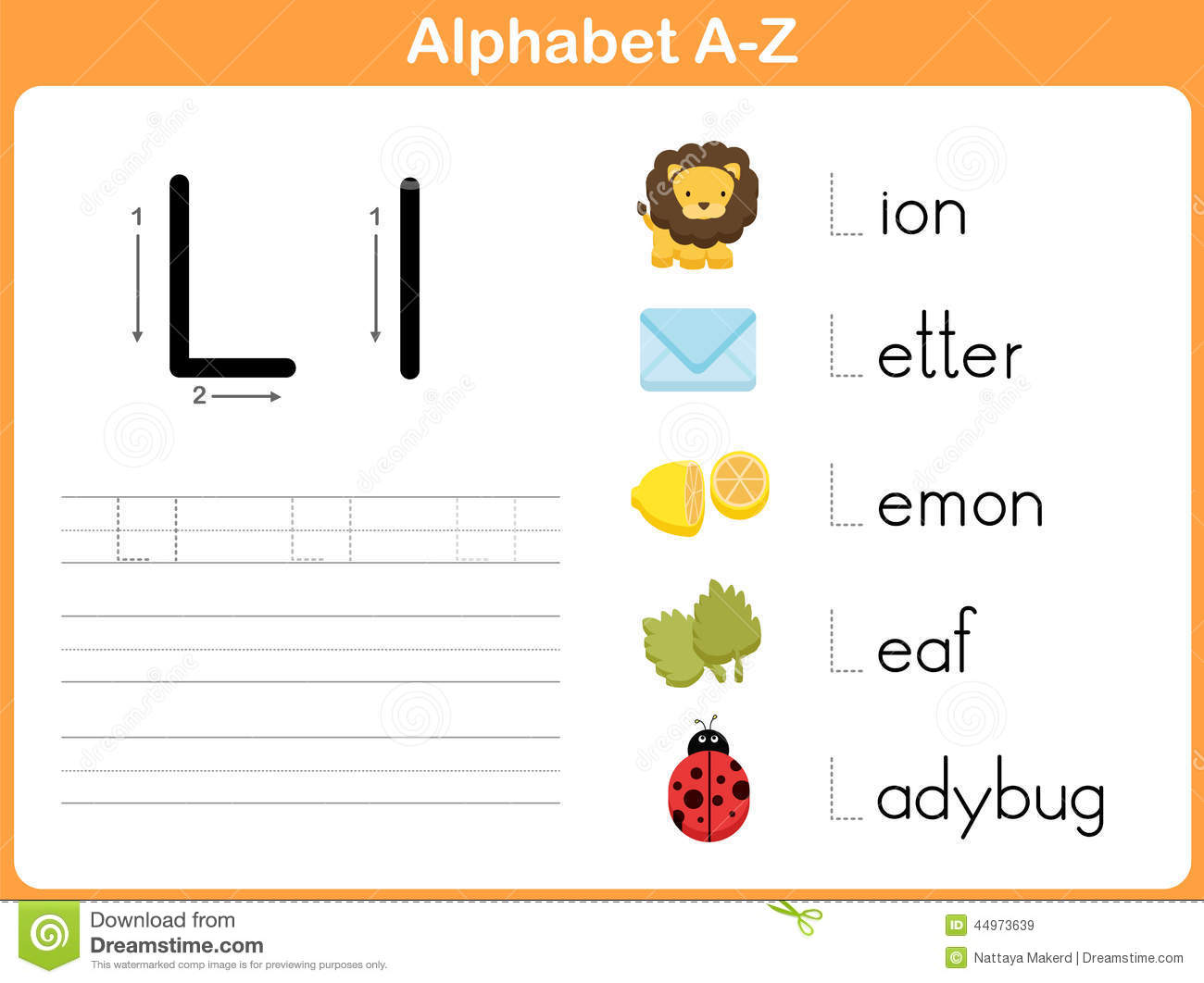 Alphabet Tracing Worksheet: Writing A-Z Stock Vector ...