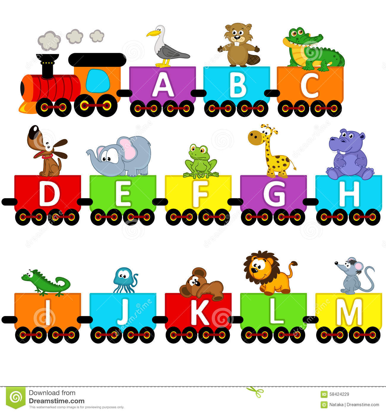 Letter Word With Train
