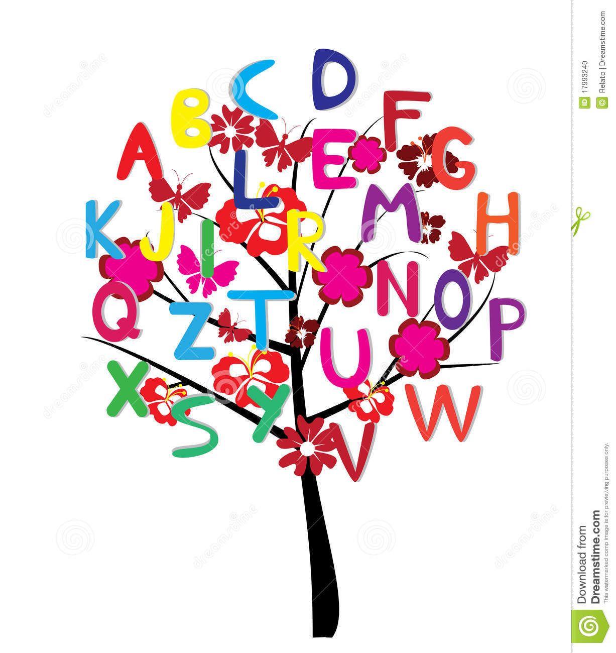 Alphabet Tree Stock Photo - Image: 17993240