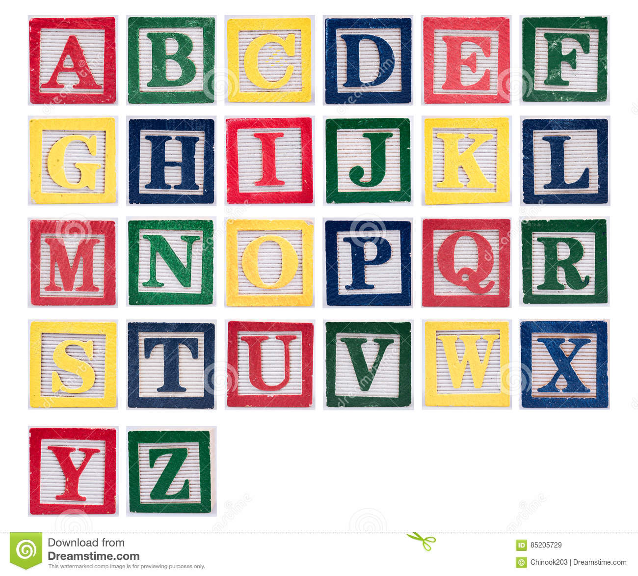 Alphabet Of Wooden Block Letters Stock Image Image Of Words