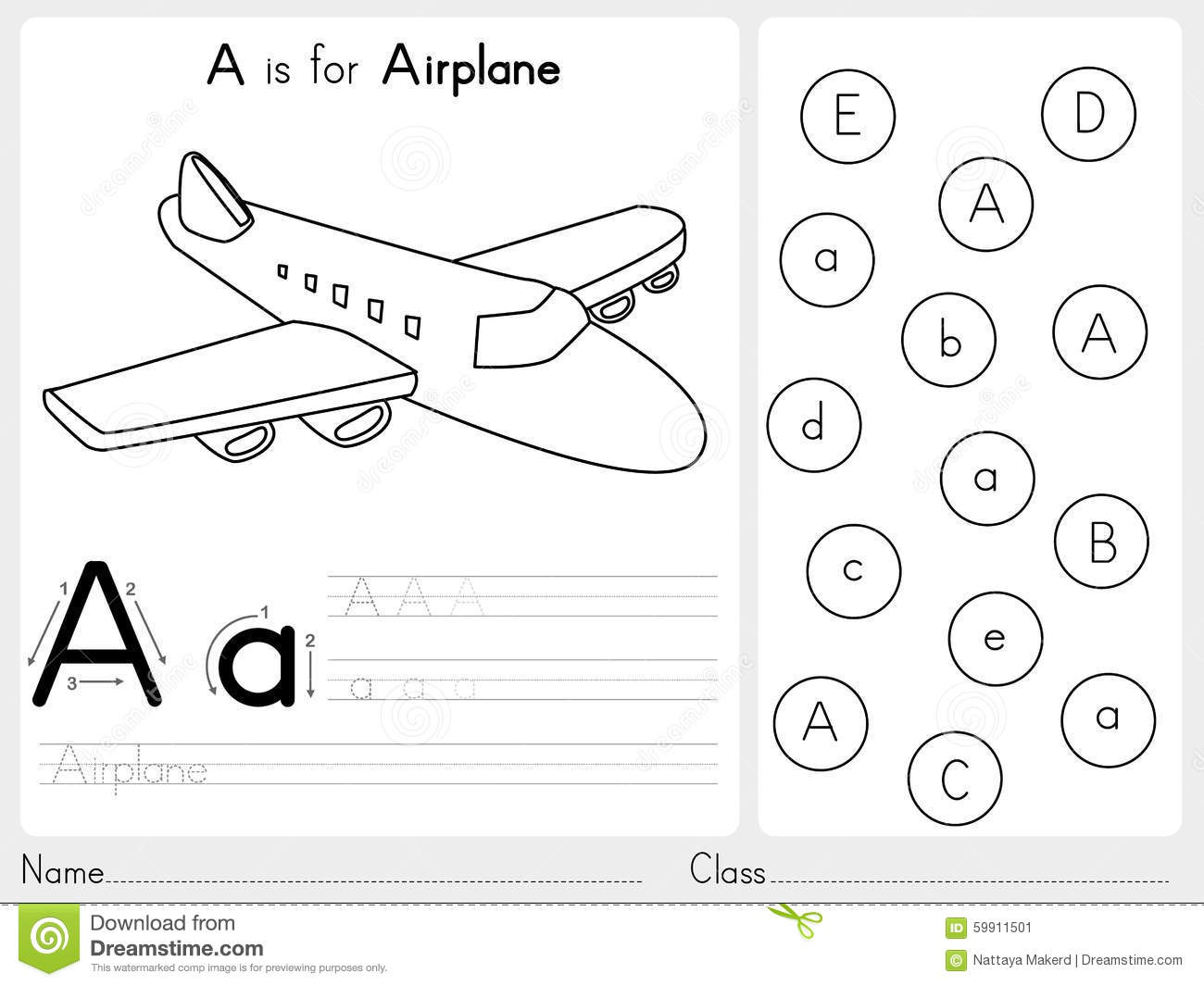 alphabet a z tracing and puzzle worksheet exercises for kids coloring book stock vector. Black Bedroom Furniture Sets. Home Design Ideas