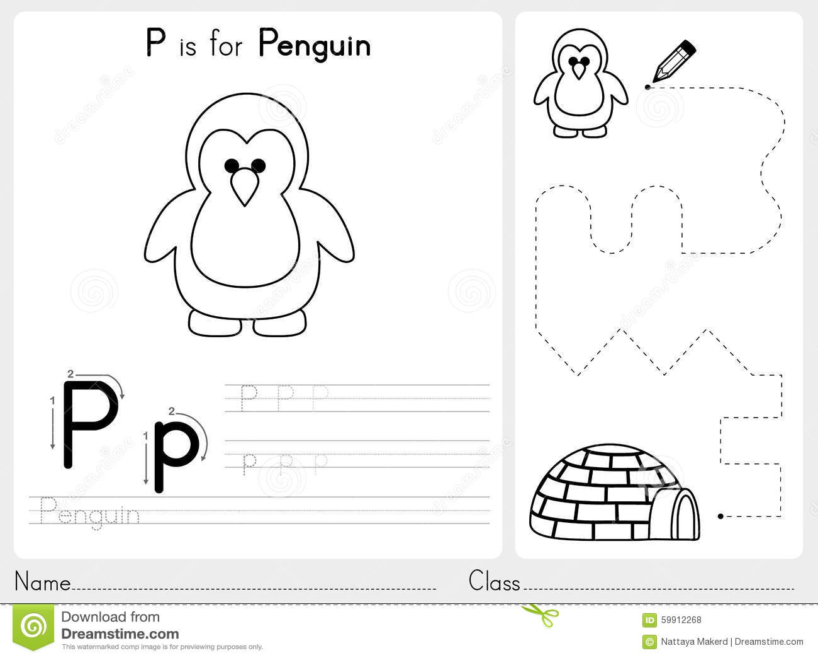 abc worksheet for preschool