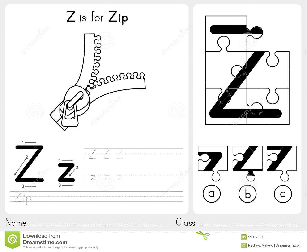 Alphabet A-Z Tracing And Puzzle Worksheet, Exercises For ...